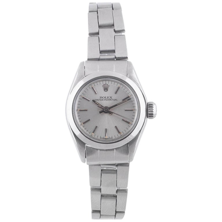Rolex Ladies Stainless Steel Bracelet Automatic Wristwatch Ref 6718