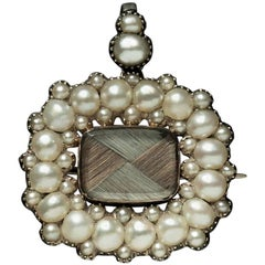 Georgian Pearl Mourning Pendant