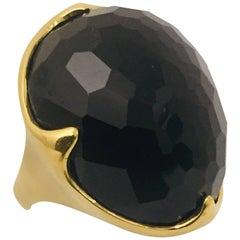 Regal Ippolita Onyx King Ring in 18 Karat Yellow Gold