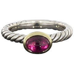 David Yurman Pink Tourmaline Color Classics Stack Ring