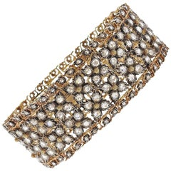 Buccellati Rose Cut Diamond Gold Bracelet