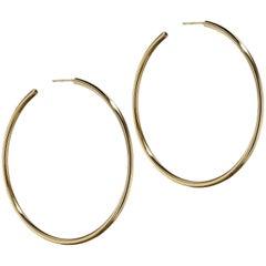 Tiffany & Co. 18 Karat Yellow Gold Hoop Earrings