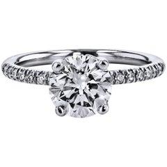 H & H 1.51 Carat Diamond Engagement Ring