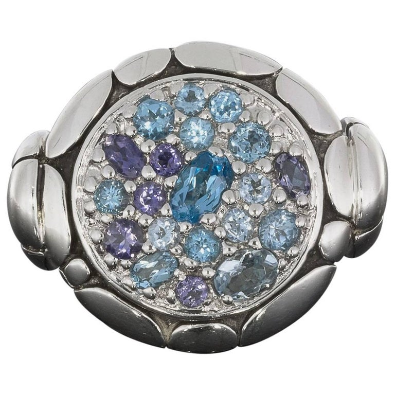 John Hardy Kali Pure Lavafire Sea Sterling Silver Ring