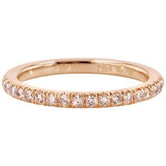 H & H 0.26 Natural Pink Diamond Band Ring