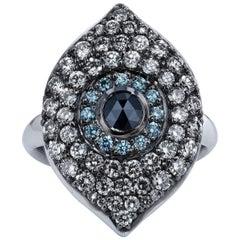 Diamond Evil Eye Ring