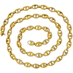 Cartier Yellow Gold Nautical Link Chain Necklace