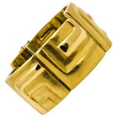 Burl Marx Yellow Gold Panel Bracelet