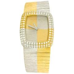 Paul Binder One-of-a-Kind Diamond Set Gold Wristwatch