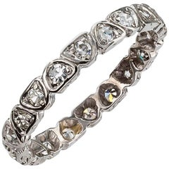 Art Deco 1930s Diamond Platinum Eternity Ring