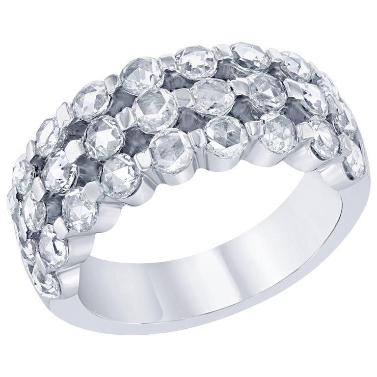 2.15 Carat Rose Cut Diamond Cocktail Ring