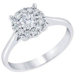 0.54 Carat Round Invisible Diamond Ring