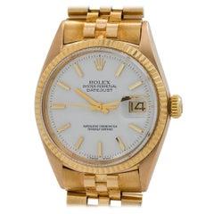 Rolex Yellow Gold Datejust Self Winding Wristwatch Ref 1601, circa 1970