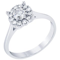 0.65 Carat Round Invisible Diamond Ring