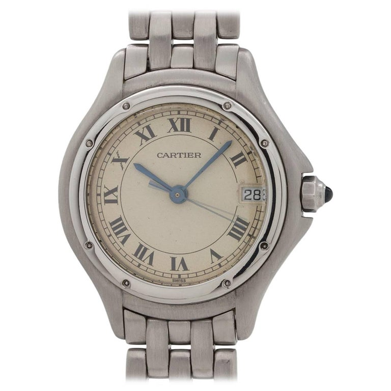Cartier Ladies Cougar Stainless Steel Quartz Wristwatch, circa 1980s
