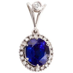 Kian Design 18 Carat White Gold Tanzanite and Diamond Neck-Piece