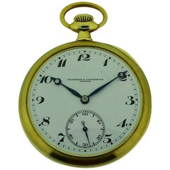 Vacheron Constantin Yellow Gold High Grade Open Faced Manual Pocket Watch