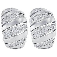 Diamond Earrings 14 Karat White Gold