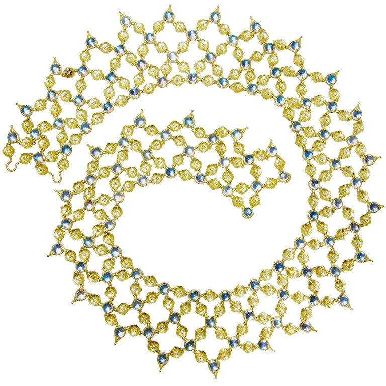 Paul Morelli Moonstone and Diamond Necklace