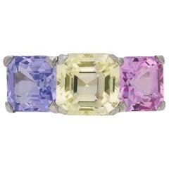 Harry Winston Multicolored Natural Sapphire Ring, circa 1950