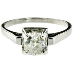 Diamond Solitaire Platinum Ring