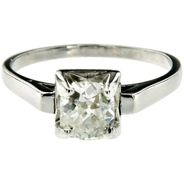 Diamond Solitaire Platinum Ring For Sale At 1stdibs