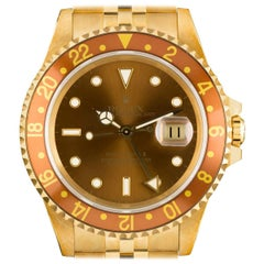 Rolex Yellow Gold GMT-Master II Brown Dial Root Beer Bezel Automatic Wristwatch
