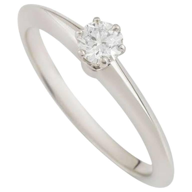 Tiffany & Co. Round Diamond Platinum Ring 0.21 Carat