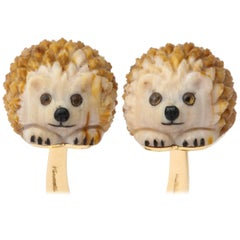 Unique Michael Kanners Hedgehog Cufflinks