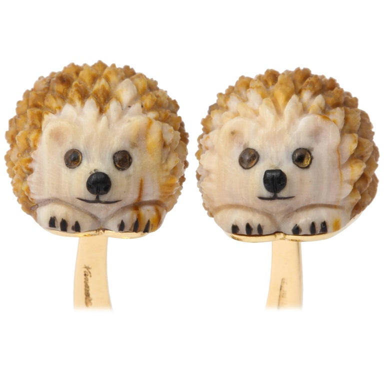 Unique Michael Kanners Hedgehog Cufflinks