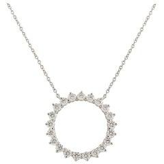 Tiffany & Co. Diamond Open Circle Pendant