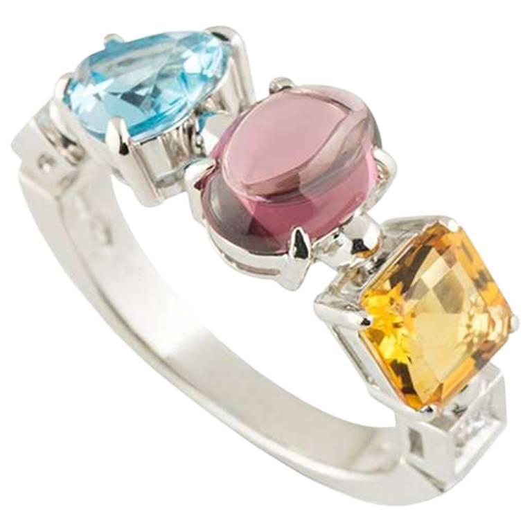 Bulgari Multi-Gemstone Allegra Ring
