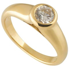 Bulgari Round Diamond Engagement Ring 0.49 Carat