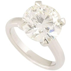 GIA Certified 5.46 Carat Round Brilliant Cut Diamond Engagement Ring