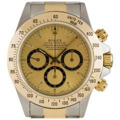Rolex Yellow Gold Stainless Steel Zenith Movement Daytona Automatic Wristwatch