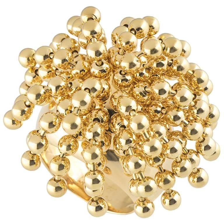 Cartier Yellow Gold Paris Nouvelle Vague Ring For Sale