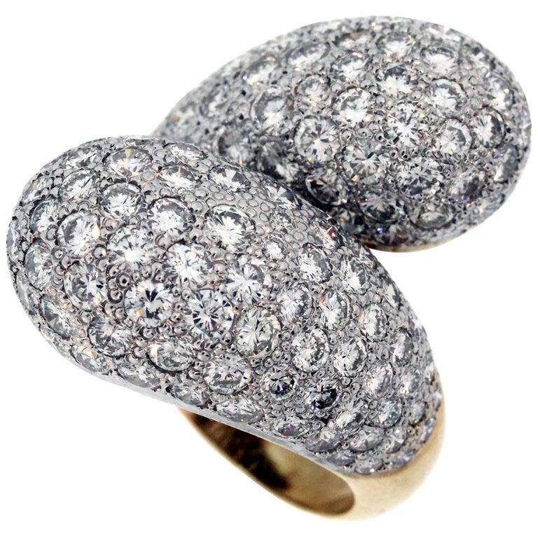 Gold and Diamond Fashion Ring