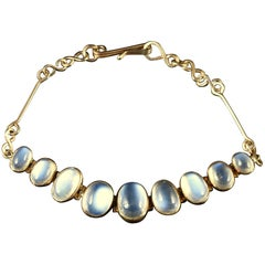 Antique Victorian Gold Moonstone Bracelet, circa 1900