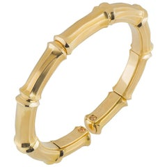Cartier Yellow Gold Bamboo Bangle