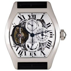 Cartier Platinum Privee Tourbillon Perpetual Calendar Manual Wind Wristwatch
