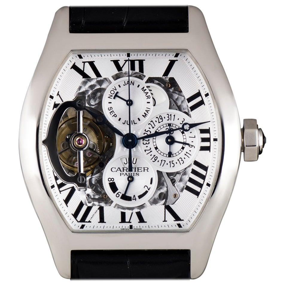 Cartier Platinum Privee Tourbillon Perpetual Calendar Manual Wind Wristwatch