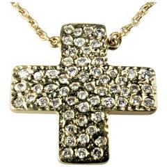 Bonds of Union 'Lights of Diamonds' Yellow Gold Cross Pendant. Ltd Ed. 10 / 1 2
