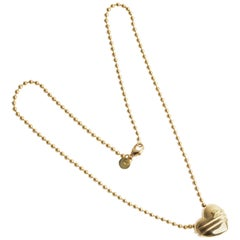 Tiffany & Co. Gold Heart with Arrow Pendant Necklace