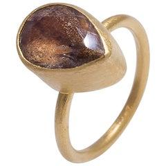 Yossi Harari Smoky Quartz Ring