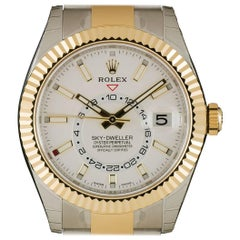 Rolex Stainless Steel Yellow Gold Sky-Dweller Automatic Wristwatch Ref 326933