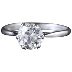 Antique Edwardian 1.45 Carat Diamond Solitaire Engagement Ring, circa 1910