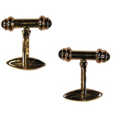 Yellow Gold Sapphires Cufflinks