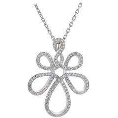 Lalique Ardente Sapphire, Diamond and White Gold Pendant