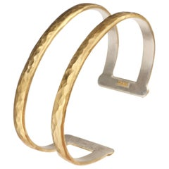 "Lika Behar ""Stockholm"" Two-Tier Cuff Bracelet in 24 Karat Yellow Gold"