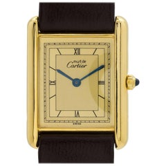 Cartier Vermeil Tank Louis Quartz Wristwatch, circa 2000